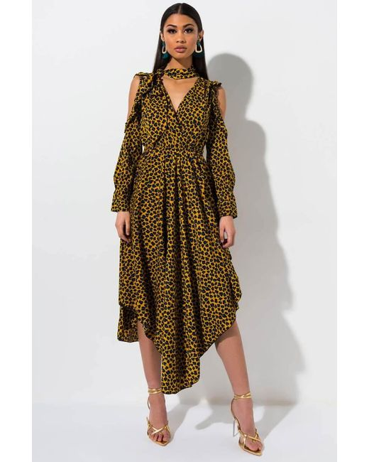 78394ad1 Akira - Multicolor Forever Lusting Leopard Maxi Dress - Lyst ...