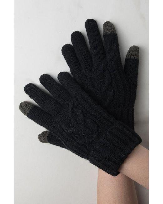 Akira - Black Hold My Hand Wool Gloves - Lyst