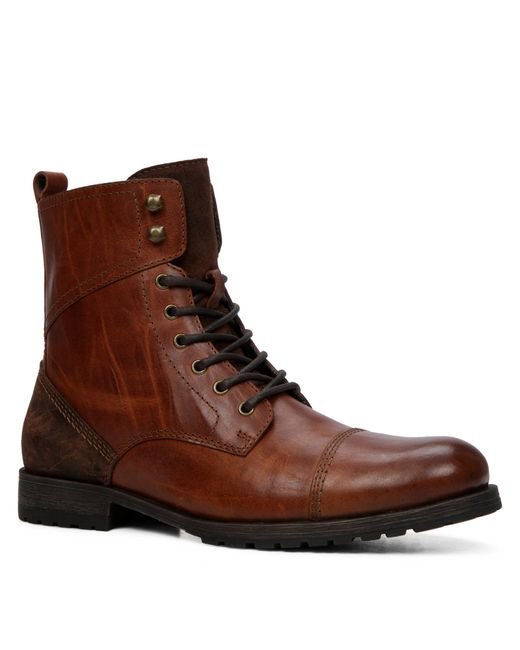 ALDO | Brown Lemond Leather Laceup Boots for Men | Lyst