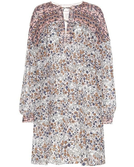 See By Chloé   Multicolor Cotton- Popeline Printed Dress   Lyst