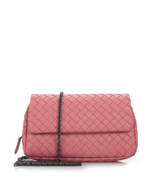 Bottega Veneta | Pink 'dusty Rose' Leather Shoulder Bag | Lyst
