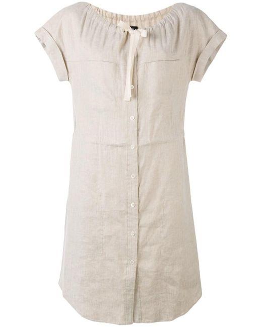 Theory   Gray 'laela' Shirt Dress   Lyst