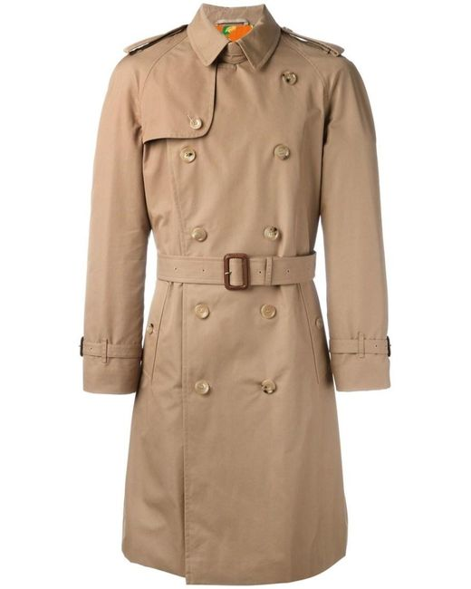 Gucci   Natural Embroidered Tiger Trench Coat for Men   Lyst