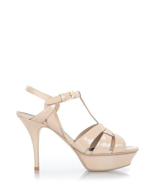 Saint Laurent | Multicolor 'tribute 75' Poudre Patent Sandals | Lyst
