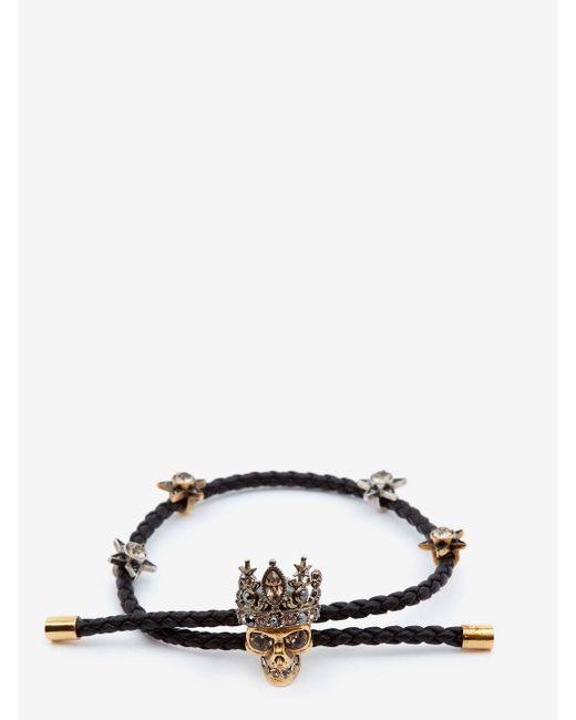Alexander McQueen - Black Queen Friendship Bracelet - Lyst
