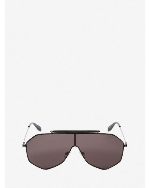 e7e9d36d650 Alexander McQueen - Black Piercing Frame for Men - Lyst ...