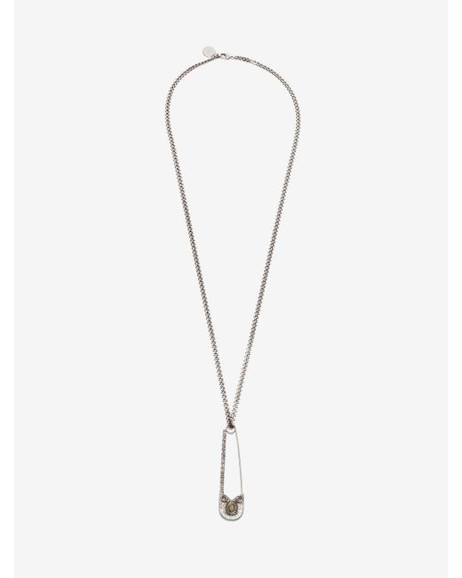 Alexander McQueen | Metallic Oversize Safety Pin Necklace | Lyst