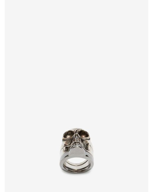Alexander McQueen | Metallic Divided Skull Ring for Men | Lyst