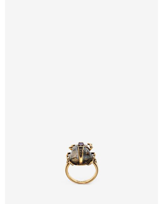 Alexander McQueen | Metallic Beetle Ring | Lyst