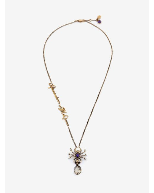 Alexander McQueen | Metallic Signature Beetle Necklace | Lyst