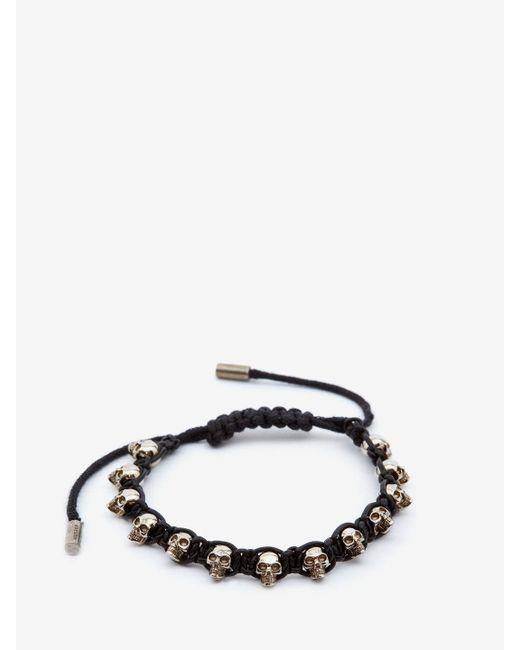 Alexander McQueen - Black Multi Skull Bracelet for Men - Lyst