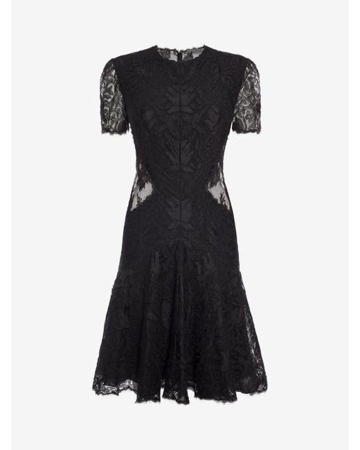 Alexander mcqueen Lace Mini Dress in Black