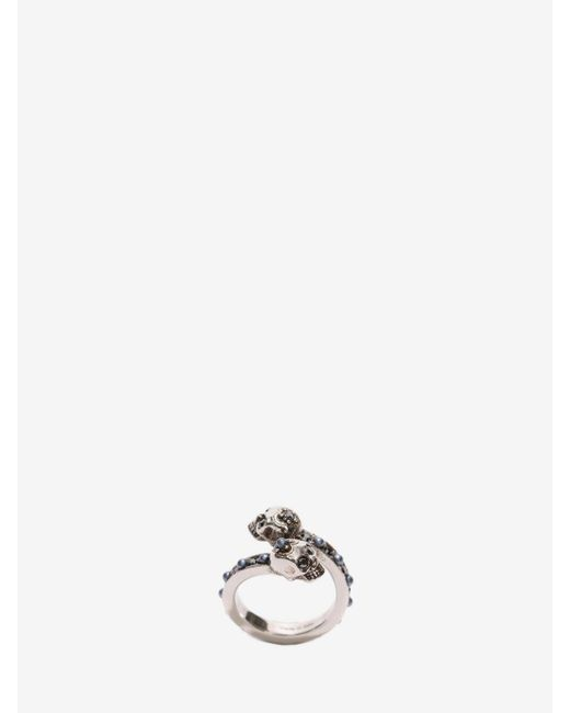 Alexander McQueen | Metallic Wrap-around Skull Ring | Lyst