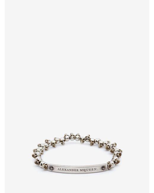 Alexander McQueen - Metallic Skull Bracelet for Men - Lyst