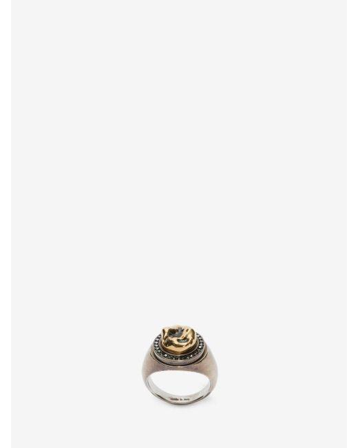 Alexander McQueen - Metallic Ring Tooth for Men - Lyst