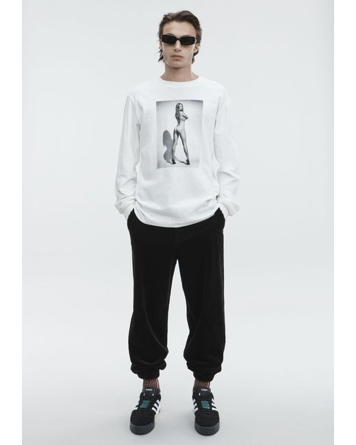 Alexander Wang - White Long Sleeve Anna Ewers Tee for Men - Lyst