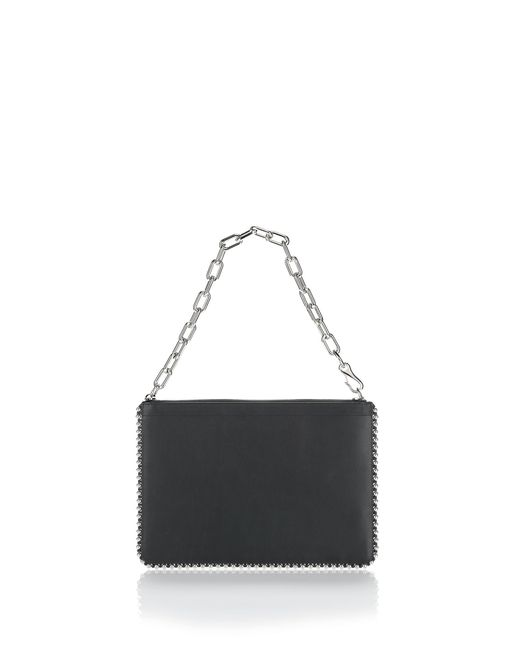 Alexander Wang | Black Studded Attica Chain Large Pouch | Lyst