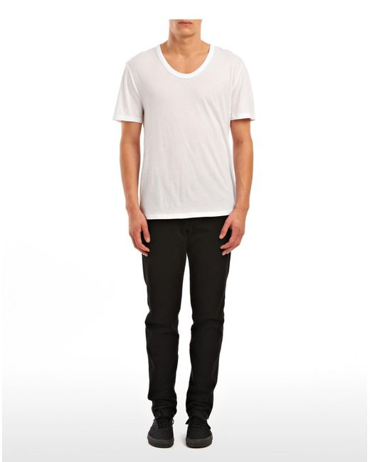 T By Alexander Wang - White Classic Low Neck Tee for Men - Lyst