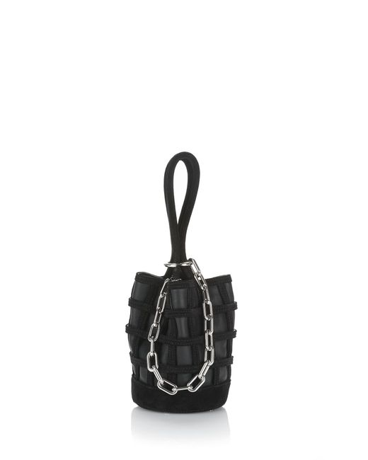 Alexander Wang | Caged Roxy Mini Bucket In Black With Rhodium | Lyst