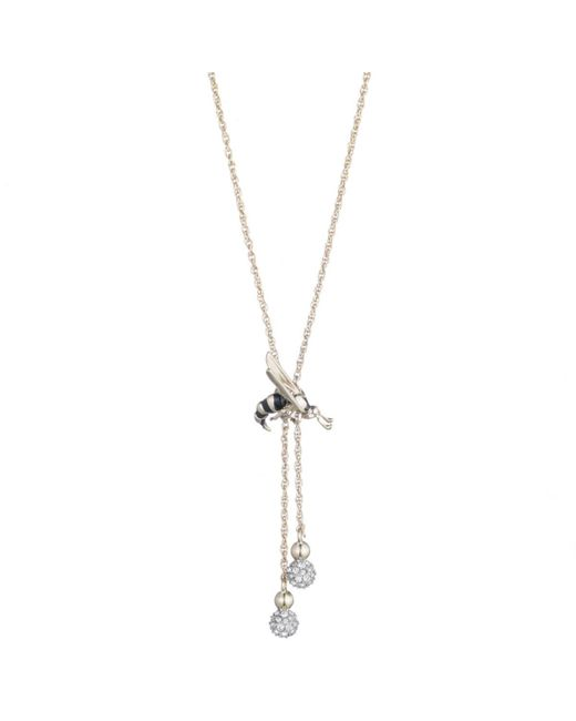 Alexis Bittar - Metallic Enameled Hornet Pendant With Crystal Accented Drops Necklace You Might Also Like - Lyst