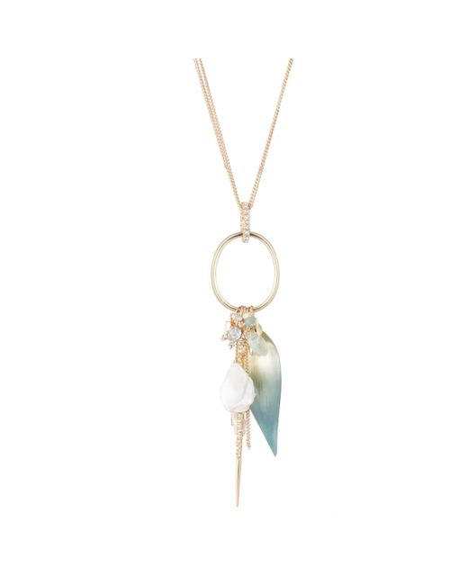 Alexis Bittar | Metallic Crystal Accented Petal Charm Pendant Necklace You Might Also Like | Lyst