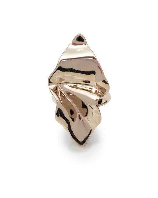 Alexis Bittar - Metallic Crumpled Gold Ring - Lyst