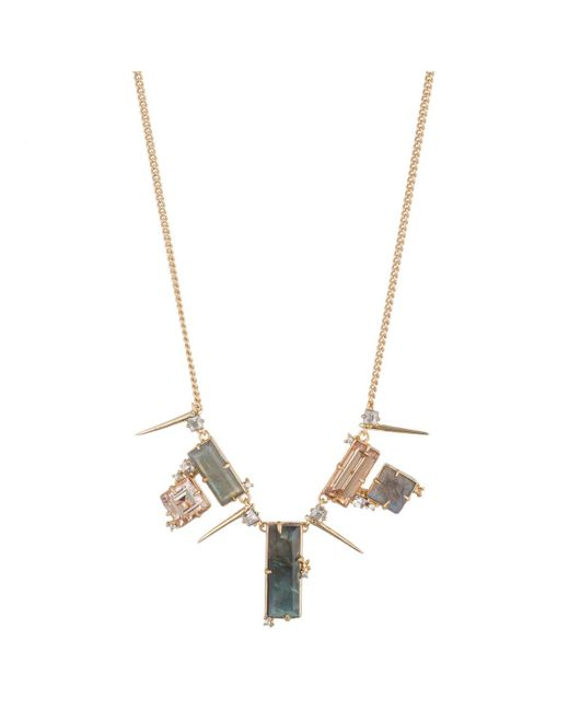 Alexis Bittar   Multicolor Geometric Stone Bib Necklace You Might Also Like   Lyst