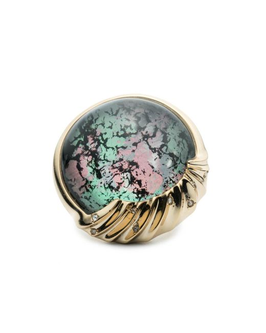 Alexis Bittar | Metallic Sculptural Sphere Cocktail Ring You Might Also Like | Lyst