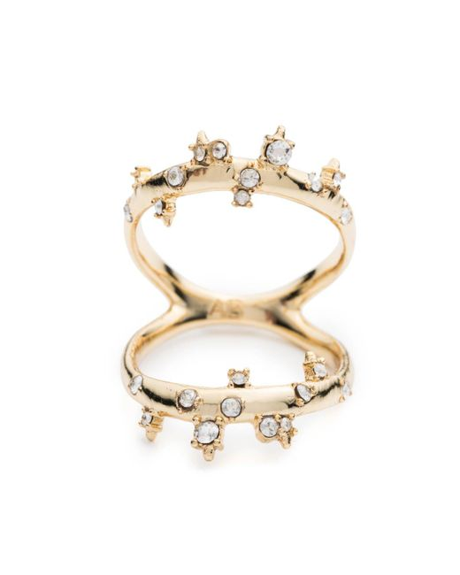 Alexis Bittar   Metallic Double Band Crystal Ring You Might Also Like   Lyst