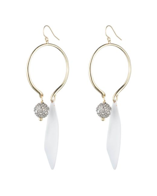 Alexis Bittar - Crystal Accented With Matte White Drop Wire Earring You Might Also Like - Lyst