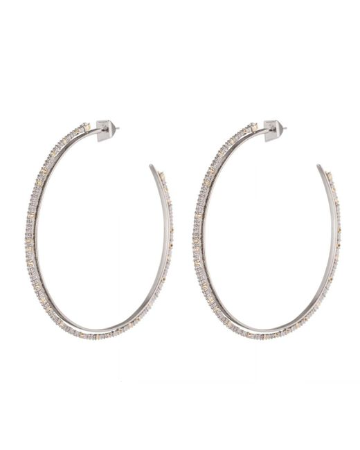 Alexis Bittar   White Crystal Lace Orbiting Hoop Earrings You Might Also Like   Lyst