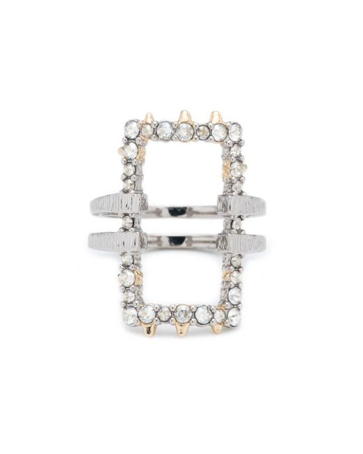 Alexis Bittar - Metallic Crystal Encrusted Oversize Link Ring You Might Also Like - Lyst