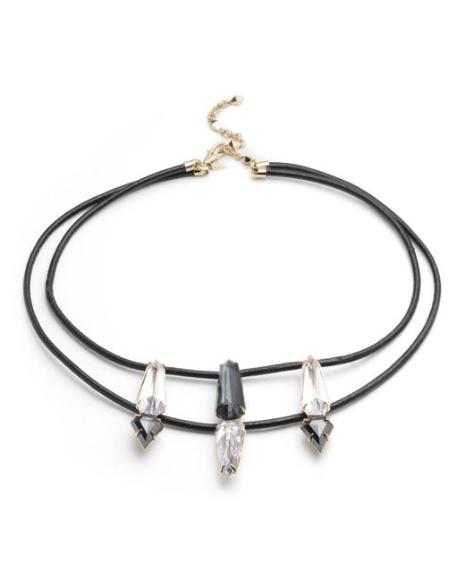 Alexis Bittar   Multicolor Fancy Cut Shield With Leather Necklace You Might Also Like   Lyst
