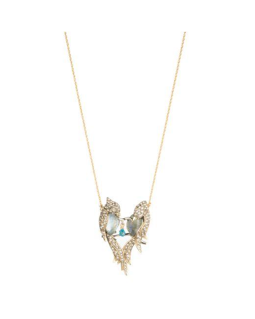 Alexis Bittar - Multicolor Crystal Encrusted Lovebirds Pendant Necklace - Lyst