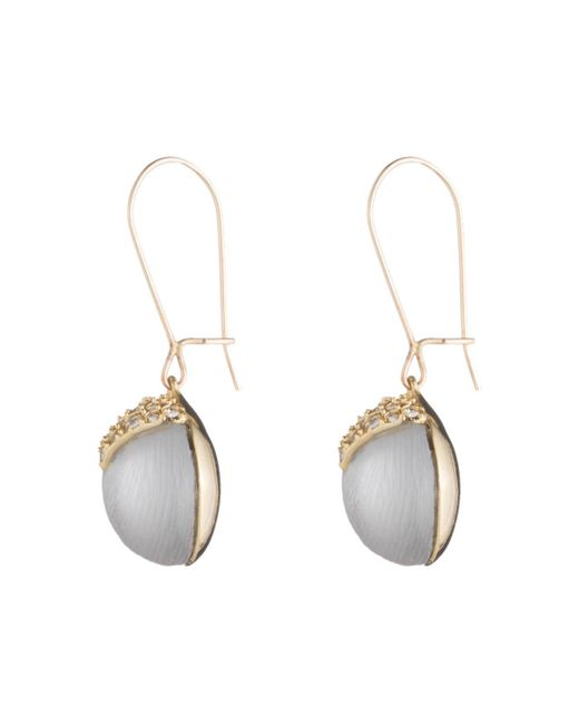 Alexis Bittar - Gray Origami Inlay Dangling Sphere Earrings You Might Also Like - Lyst