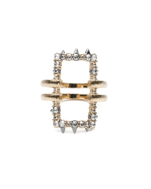 Alexis Bittar | White Crystal Encrusted Oversize Link Ring You Might Also Like | Lyst