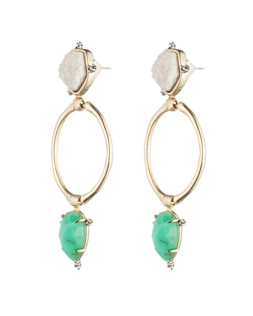 Alexis Bittar - Multicolor Druzy Stone Post Link Earring You Might Also Like - Lyst