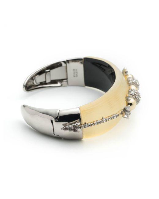 Alexis Bittar | Metallic Crystal Encrusted Orbiting Flip Hinge Bracelet You Might Also Like | Lyst