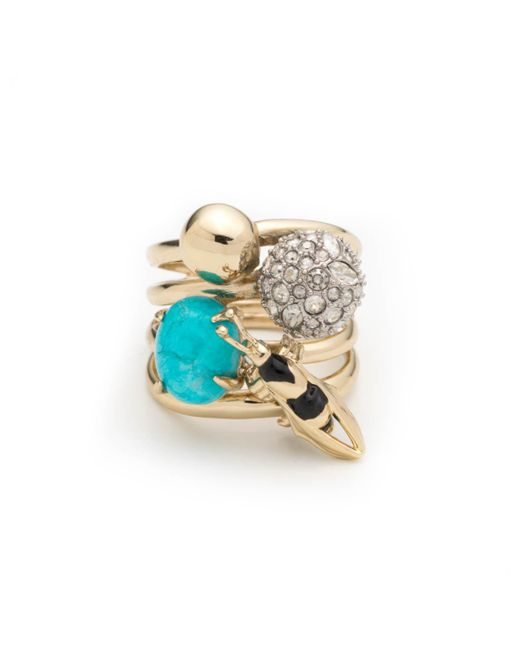 Alexis Bittar - Multicolor Enameled Hornet Orbiting Band Ring You Might Also Like - Lyst