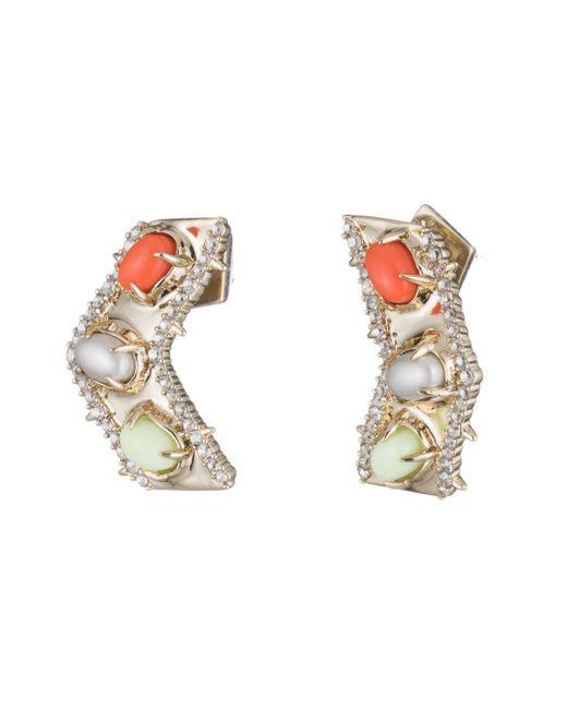 Alexis Bittar - Metallic Sculptural Stone Cluster Post Earring - Lyst