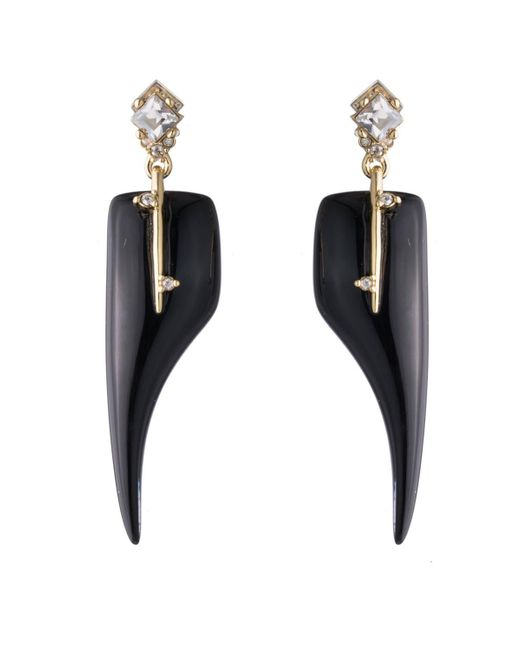 Alexis Bittar - Black Abstract Thorn Dangling Post Earring - Lyst