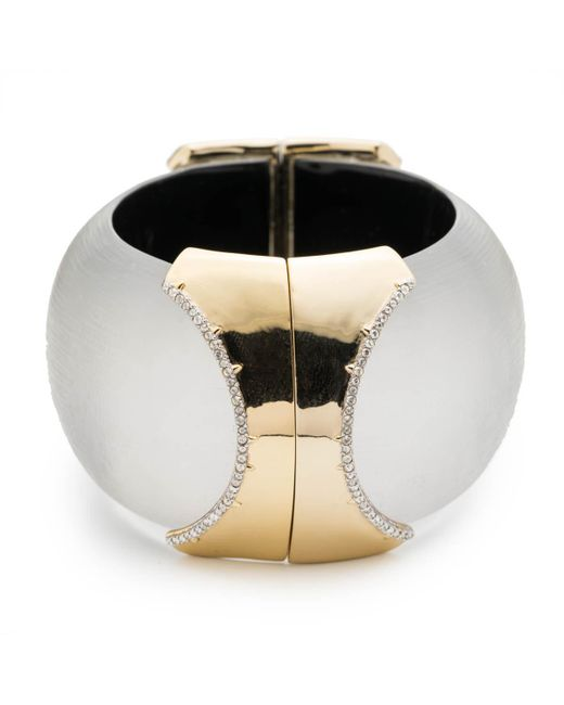 Alexis Bittar - Metallic Large Dome Hinge Crystal Accent Bracelet You Might Also Like - Lyst