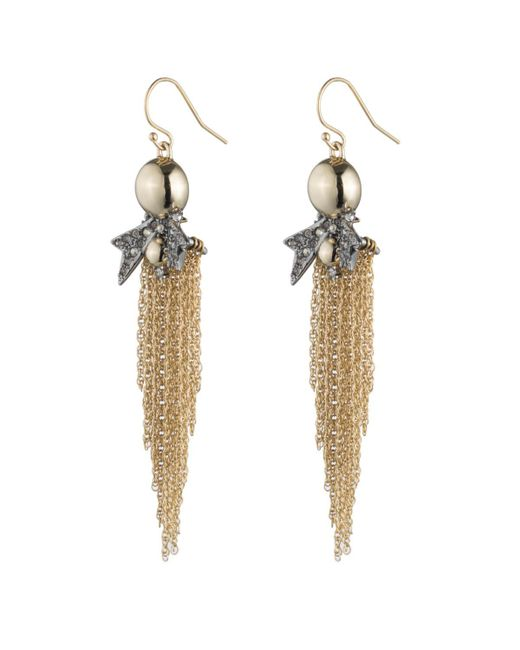 Alexis Bittar | Metallic Crystal Encrusted Starburst Tassel Wire Earring You Might Also Like | Lyst