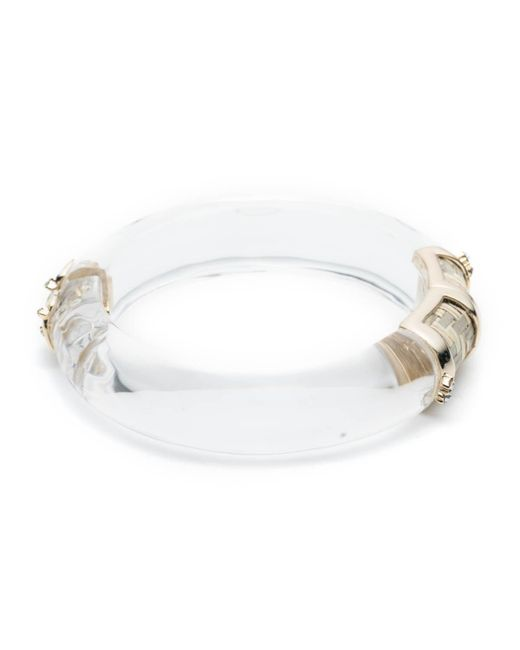 Alexis Bittar - Metallic Petite Raffia Hinge Bracelet - Lyst