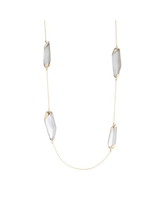 Alexis Bittar - Gray Lucite Station Necklace You Might Also Like - Lyst