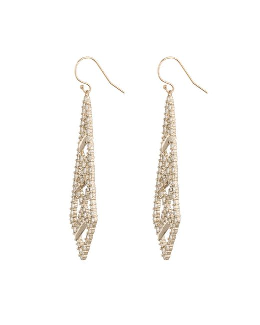 Alexis Bittar | Metallic Crystal Encrusted Spiked Lattice Wire Earring You Might Also Like | Lyst