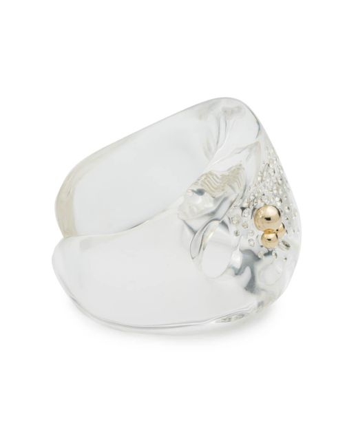Alexis Bittar | Metallic Liquid Lucite With Diamond Dust Cuff Bracelet You Might Also Like | Lyst