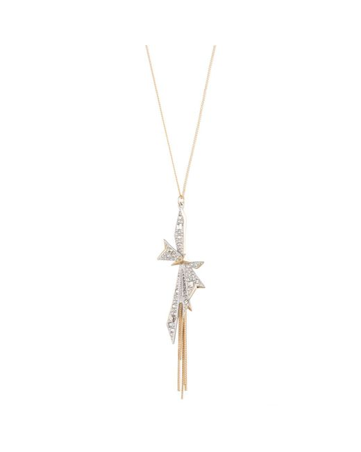 Alexis Bittar | White Origami Bow Long Pendant Necklace You Might Also Like | Lyst