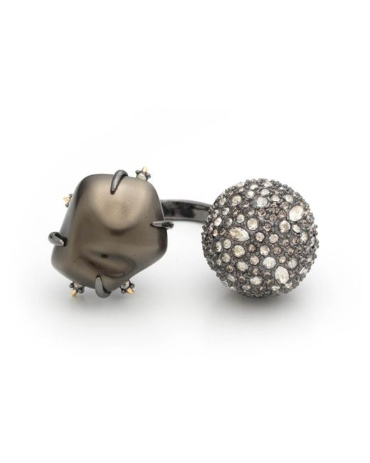 Alexis Bittar | Multicolor Crystal Encrusted Baroque Pearl Adjustable Cocktail Ring You Might Also Like | Lyst