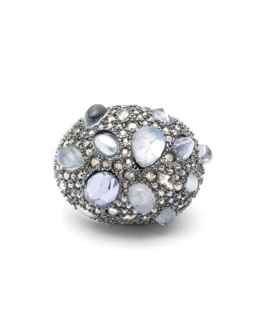 Alexis Bittar - Metallic Stone Cluster Pavé Cocktail Ring - Lyst